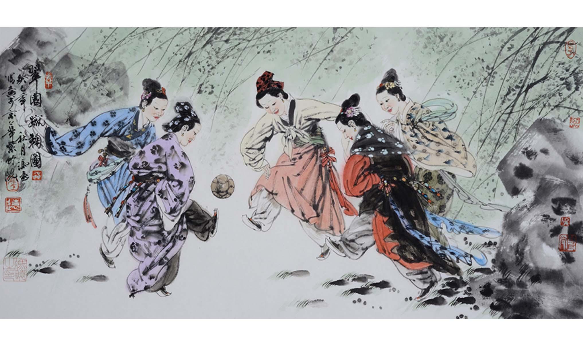美人蹴鞠:古代女子足球队的绮丽风情