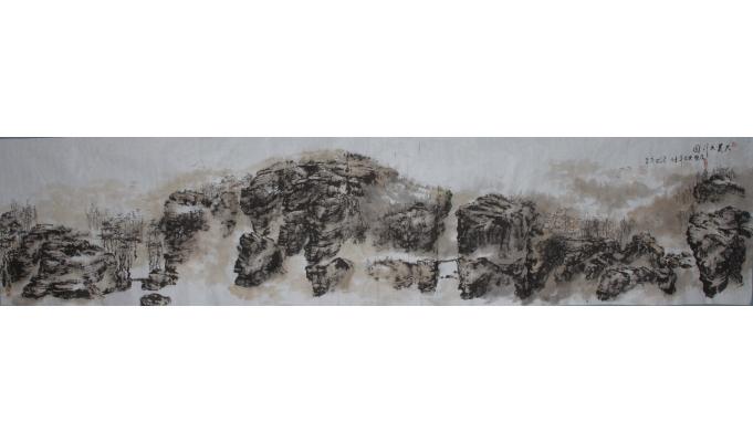 马乐 《大美太行图》 52*230cm