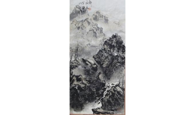 马乐 《静居深山》 42*68cm