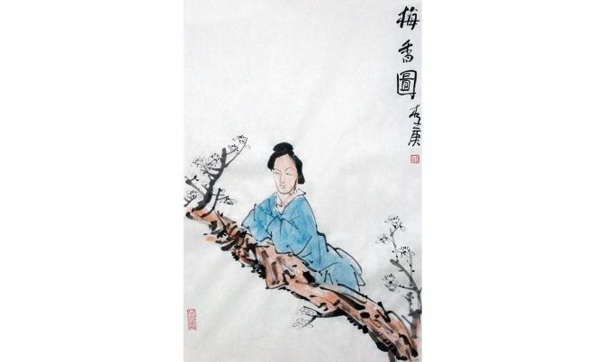 李庚 梅香图